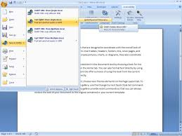 picture showing save as daisy option in the ms word 2007 file