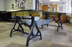 industrial wood furniture.  Industrial American Conference Dining Table Vintage Industrial Wood Steel Cast Iron U0026  Glass For Sale To Furniture