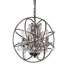 dover 4 light antique bronze vintage sphere fixture globe crystal chandelier
