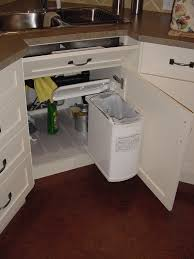 Under Cabinet Trash Can Pull Out Roselawnlutheran Sink Garbage Kitchen  Storage Zitzat C: Full ...