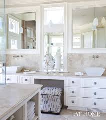 Refinishing the Bathroom Vanity With Makeup Station