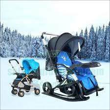 baby sled cart for infants winter snow ski stroller kids multi color skiing boards children sledge