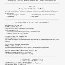 waitress sample resume waiter waitress resume and cover letter examples