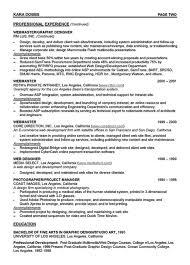 Web Designer Resume Best Web Designer Resume