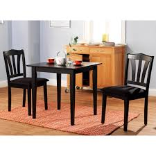 3 piece dining set table 2 chairs kitchen room wood furniture dinette modern new