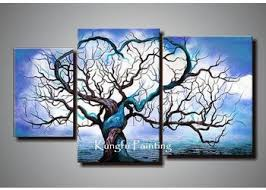 origin life wall art 3 piece blue handmade canvas photography tree winter abstract fashion unframed painting on winter blooms ii canvas wall art with wall art best collection wall art 3 piece canvas art paintings