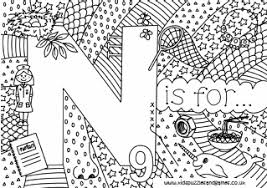 More than 600 free online coloring pages for kids: Letter N Colouring Sheets Kids Puzzles And Games