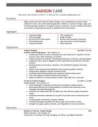 Resume Objective For Graphic Designer Graphic Design Resume Template FlatOutFlat Templates 64