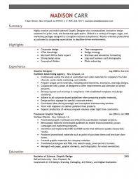 Resume Objective For Graphic Designer Graphic Design Resume Template FlatOutFlat Templates 64