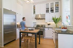 standing kitchen furniture ideas small range hood designing small kitchens with minimalist wooden cabinet and flooring f