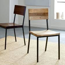 low back leather dining chairs rustic dining chair west elm with regard to low back dining low back leather dining chairs