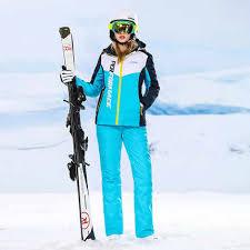Free Shipping New <b>Ski</b> Suit Print Flowers <b>Women Snowboard Set</b> ...