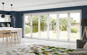 xl external white pre finished la porte vista folding doors chrome