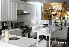 recent staining kitchen cabinets before and after kitchen