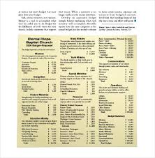 Budget Layout Example 15 Church Budget Templates Word Pdf Excel Free Premium Templates