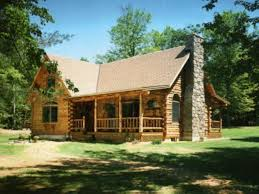 Adorable Small Log Home Designs Using Painted Wooden Exterior Small Log Home Designs
