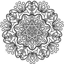 Mandala Printables Adult Coloring Page Printable Mandala Mandala