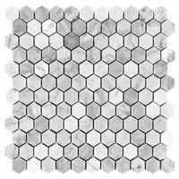 mosaic shower floor tile. Carrara (Carrera) Bianco Hexagon Honed 1\ Mosaic Shower Floor Tile