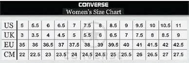 Chuck Taylor All Star Size Chart Converse Hi Top All Star Chuck Taylor Red White Mens Womens