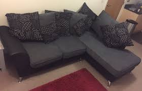 scs dark grey corner sofa