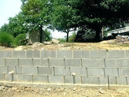 build a block retaining wall building a cinder block retaining wall without mortar building a cinder