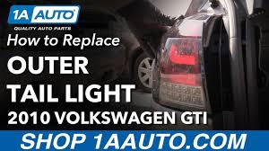 Vw Gti Brake Light Replacement How To Replace Outer Tail Lights 10 14 Volkswagen Gti