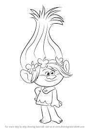 How To Draw Princess Poppy From Trolls Drawingtutorials101com