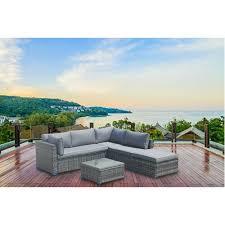 outdoor rattan corner sofa set garden