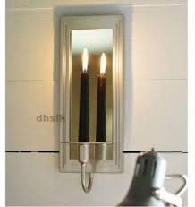 wall sconces candle holder pixball ikea gemenskap sconce silver color mirrored modern holders oversized clock single