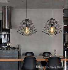vintage nordic industrial style hive metal cage pendant light chandelier living room bar loft pendant lamp pendant fixtures ceiling pendant light fixtures