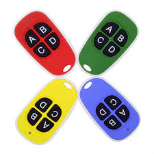 details about universal cloning electric gate garage door remote control key fob 433mhz 4keys