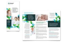 Microsoft Office Tri Fold Brochure Template Pediatric Doctor Tri Fold Brochure Template Word Publisher