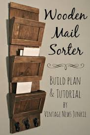 wood decorations for furniture. Wooden Mail Sorter - 40 Rustic Home Decor Ideas You Can Build Yourself Wood Decorations For Furniture