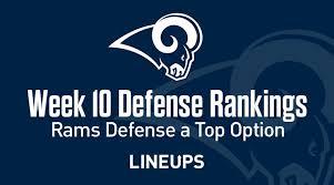 Standard Nfl Team Depth Chart Cheat Sheets Week 10 Nfl Defense Def Fantasy Football Rankings Stats
