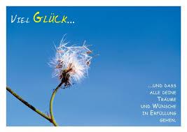 Poetische Postkarte Viel Glück Und Das Alle Deine Träume Und