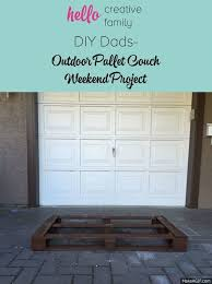 learn to make patio furniture with pallets with this diy dads diy outdoor pallet couch