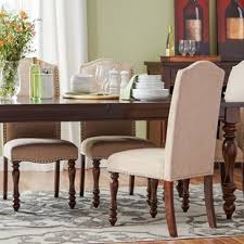 Nailhead dining chairs dining room Tufted Dining Lanesboro Upholstered Side Chair set Of 2 Wayfair Nailhead Dining Chairs Youll Love Wayfair