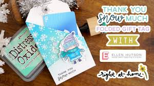Folding Gift Tags Thank You Snow Much Folded Gift Tag 12 Days Of Christmas Tags With Ellen Hutson Right At Home