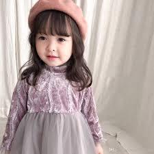 Kids Designer 2019 2019 Baby Girls Dress Kids Designer Clothes Luxury Designer For Girls Kids Children High Quality Lace Wedding Dress Autumn Winter From