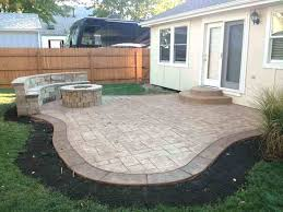 cement patio cost best of perfect stamped concrete ideas wallpaper diy
