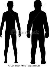 Couple Template Fashion Man Couple Silhouette Fashion Man Full Length Couple
