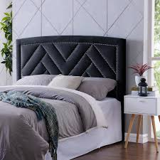 Handy Living Abingdon Navy Blue Velvet King/California King Upholstered  Headboard - Free Shipping Today - Overstock.com - 24253830