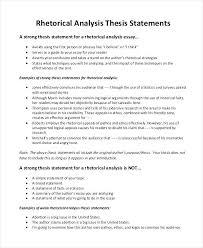 Example Of Rhetorical Analysis Essays An Example Of A Rhetorical Analysis Essay Rhetorical Analysis