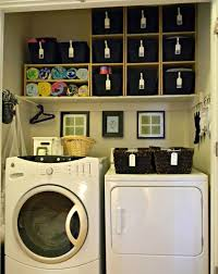 Interior:Slanted Laundry Basket Shelf Idea Over Washing Design Simply Laundry  Room Idea In Small