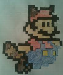 Drawn Mario Graph Paper 11 500 X 595 Dumielauxepices Net