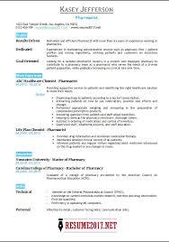 Pharmacists Resumes Pharmacist Resume 2017 Templates