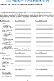 Property Inventory Template Free Download Inventory List For Landlords 17 Property Inventory Templates Word