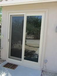 almond french slidng door with sliding screen door