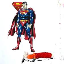 superman soaring the new life size officially licensed dc removable wall