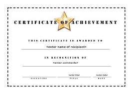 Certificate Of Achievement Templates Free Inspiration Certificate Of Achievement Template Trend Certificate Of Achievement